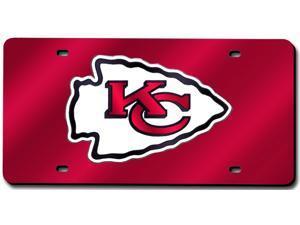 Kansas City Chiefs Laser Cut Red License Plate
