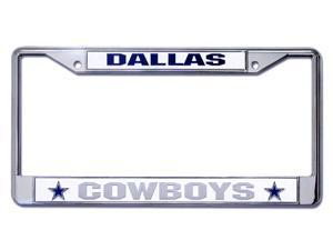 Dallas Cowboys Chrome License Plate Frame  Free Screw Caps with this Frame