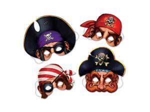 Club Pack of 12  Brown and Purple Pirate Masks