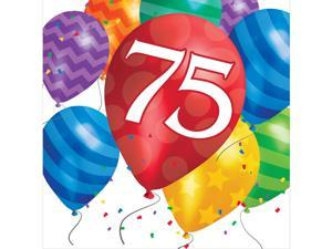 """Pack of 192 Balloon Blast """"75"""" Bright Colored  2-Ply Party Lunch Napkins"""
