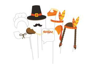 """Pack of 60 Black and Brown First Thanksgiving Photo Prop Sets 15"""""""
