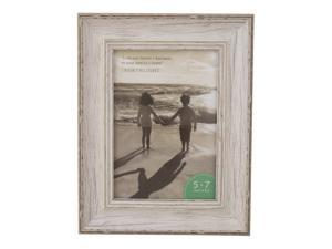 """5"""" x 7"""" White Distressed Vintage Picture Frame Tabletop Decor"""