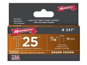 Arrow Fastener 257 T25 7/16 Inch (11mm) Staples, 1000/Pk