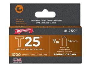 Arrow Fastener 259 T25 9/16 Inch (14mm) Staples, 1000/Pk
