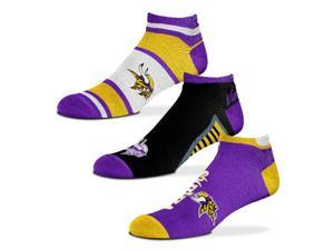 Minnesota Vikings Show Me The Money! Ankle Socks, 3-Pack, Large (10-13)