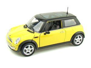 Mini Cooper with Sun Roof by Collectable Diecast - 1:18, Yellow