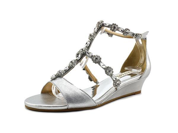 f9dd29ceb0b2 Badgley Mischka Terry II Women US 7 Silver Sandals