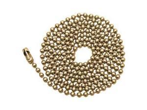 Westinghouse 77109 - 12' Beaded Chain with Connector - Antique Brass Finish (77109 12 Ft. Antique Brass Beaded Chain with Connector)