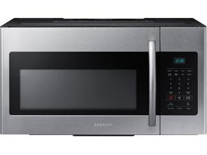 1.6 cu. ft. Over-the-Range Microwave Oven with 300 CFM Ventilation, 1,000 Cooking Watts, 2-Stage Programmable Cooking and Auto Defrost/Reheat: Stainless Steel