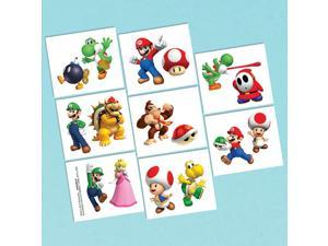 Super Mario Tattoo Favors (16 Pack) - Party Supplies