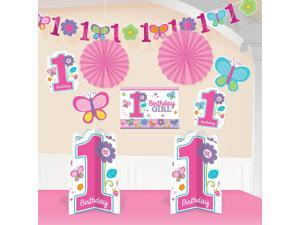 Sweet 1st Birthday Girl Room Decorating Kit (Each) - Party Supplies