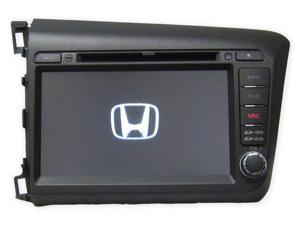 """Honda Civic 2012+ OEM Replacement In Dash Double Din 8"""" LCD Touch Screen GPS Navigation Bluetooth CD/DVD Player Multimedia Radio"""