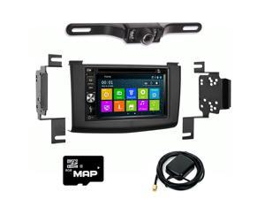 Otto Navi In Dash Navigation System DVD GPS Navigation Multimedia Radio and Kit for Nissan Rogue 2008-2011 with Back up camera and extra