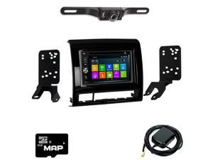 Otto Navi In Dash Navigation System DVD GPS Navigation Multimedia Radio and Dash Kit for Toyota Tacoma 2012-2015 with Back up camera and extra