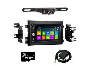 Otto Navi In Dash Navigation System DVD GPS Navigation Multimedia Radio and Kit for Ford Mustang 2005-2009 with Back up camera and extra