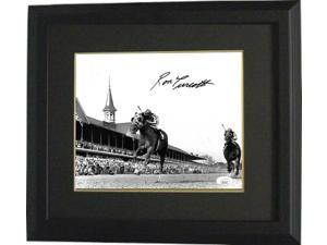 Ron Turcotte signed 1973 Secretariat Kentucky Derby B&W 8x10 Photo Custom Framing- JSA (Triple Crown)