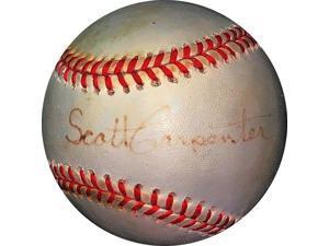 Scott Carpenter signed ROAL Rawlings OFC American League Baseball light faded sig- JSA #KK58203 (NASA Mercury Seven astronaut)