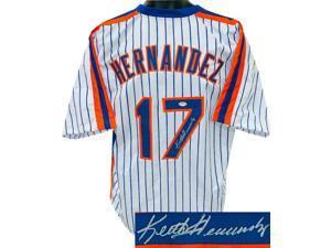 Keith Hernandez signed White Pinstripe Custom Stitched Pro Baseball Jersey XL- PSA Witnessed