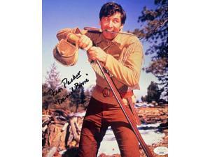 Fess Parker signed Vintage Color 8x10 Photo Daniel Boone- JSA #LL60260