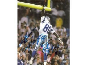 Alvin Harper signed Dallas Cowboys 8x10 Photo SB Champs 92, 93
