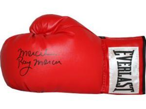 Athlon CTBL-013313 Ray Mercer Signed Everlast Left Boxing Glove with Merciless - 1988 Seoul Olympic Gold - Red