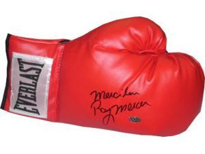 Athlon CTBL-013461 Ray Mercer Signed Everlast Right Boxing Glove with Merciless - 1988 Seoul Olympic Gold - Red