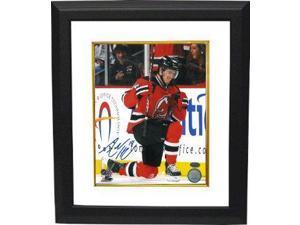 Athlon CTBL-BW14400 Adam Henrique Signed New Jersey Devils Photo Custom Framed Vertical on Knee - 8 x 10