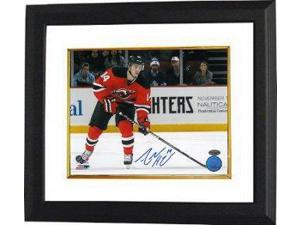 Athlon CTBL-BW14401 Adam Henrique Signed New Jersey Devils Photo Custom Framed Horizontal - 8 x 10
