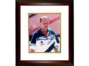 Barry Switzer signed Dallas Cowboys 8x10 Photo Custom Framed (white shirt)- PSA Hologram