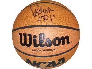 David Robinson signed NCAA Indoor/Outdoor Basketball (Navy Midshipmen)- JSA Hologram