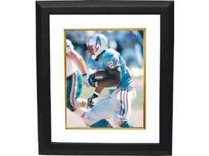 Athlon CTBL-BW15379 Eddie George Unsigned Tennessee Titans-Oilers 8 X 10 Photo Custom Framed - Blue Jersey Vs Dolphins