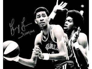 Athlon CTBL-016789 George Gervin Signed Virginia Squires ABA Vintage B&W Photo Iceman - 16 x 20