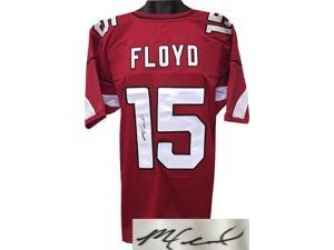 Michael Floyd signed Red Custom Stitched Pro Style Football Jersey XL- JSA Hologram