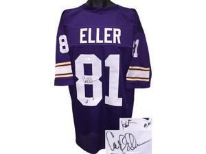 Carl Eller signed Purple TB Custom Stitched Pro Style Football Jersey HOF 04 XL- JSA Hologram