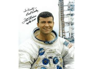 Fred Haise signed NASA Astronaut/Pilot Vintage Color 8x10 Photo Apollo 13 LMP Best Wishes To Kristy- JSA Hologram #EE62131