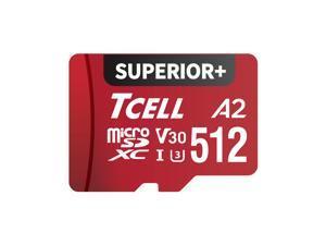 TCELL SUPERIOR+ 512GB microSDXC A2 USH-I U3 V30 Read 100MB/s Write 85MB/s Full HD & 4K UHD Memory Card With Adapter