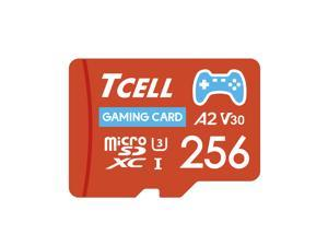 TCELL Gaming 256GB microSDXC A2 USH-I U3 V30 Read 100MB/s Write 80MB/s Memory Card With Adapter, Designed for Gaming Console, Compatible with Nintendo Switch, Wii etc.