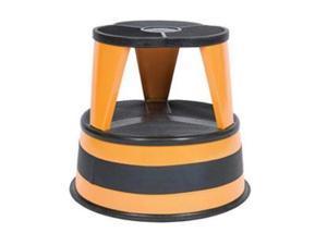 "Cramer Kik-Step Steel Step Stool 350 lb cap 16"" dia. x 14 1/4h Orange 100130"