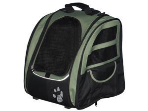 Pet Gear I-GO2 Traveler Roller Backpack for cats and dogs, Sage