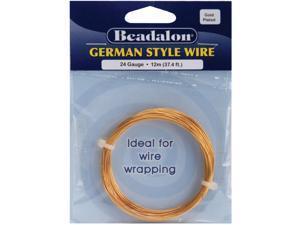 German Style Wire-Gold Round - 24 Gauge, 37.4'