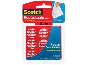 """Scotch Restickable Dots 7/8"""" 18/Pkg-Clear"""