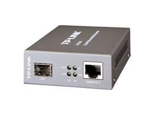 TP-Link Gigabit SFP to RJ45 Fiber Media Converter | Fiber to Ethernet Converter | 10/100/1000Mbps RJ45 Port to 1000Base-SX/LX SFP Slot Supporting MiniGBIC Modules (MC220L)
