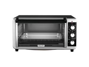 Black & Decker Extra-Wide 8-Slice Toaster Oven, Black TO3250XS