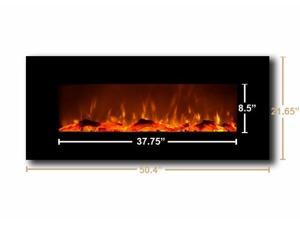 "Touchstone 80001 Oynx Black 50"" Wall Mounted Electric Fireplace"