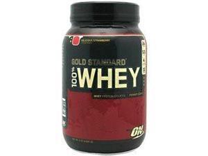 Optimum Nutrition 100% Whey Protein, Strawberry, 2 lbs. Gold Standard Protein