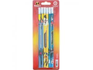 Disney Pixar Incredibles 2 Personalized Pencils Hero Super Star Awesome 6 Pack