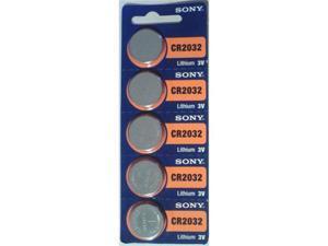 Sony Battery CR2032 Lithium 3V (5 Batteries Per Pack)