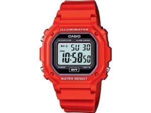 Casio #F108WHC-4A Men's Red LED Back Light Chronograph Alarm LCD Digital Watch