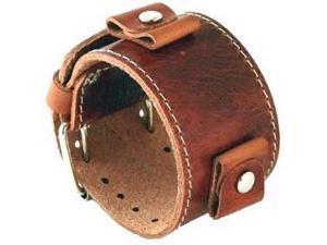f7606bc78aee5 Nemesis #BL-BB Wide Brown Leather Cuff Wrist Watch Band