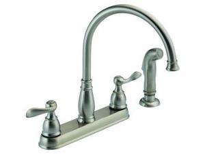 Delta 2-Handle Kitchen Faucet With Spray-2H SS KIT FAUCET W/SPRY